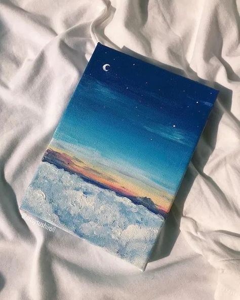 Small Canvas Paintings, Easy Canvas Art, Simple Acrylic Paintings, Small Canvas Art, Mini Canvas Art, Cute Paintings, Acrylic Painting Canvas, Empty Canvas, Canvas Ideas