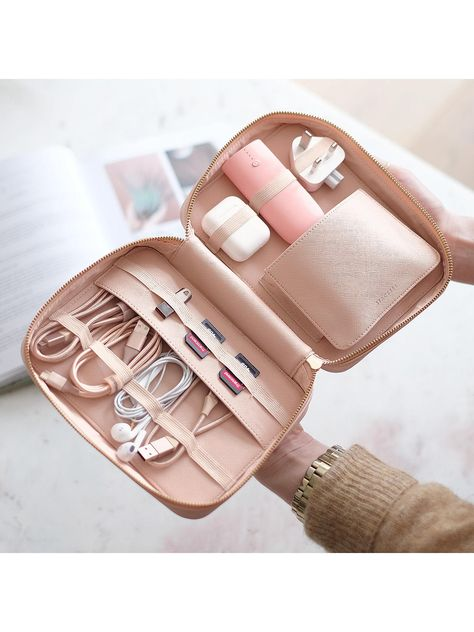 Buy Blush Pink Stackers Cable Tidy Travel Bag from our Travel & Luggage Accessories range at John Lewis & Partners. Travel Bag Essentials, Packing Tips For Travel, Best Travel Bags, Packing Lists, Travel Hacks, Travel Ideas, Travel Inspiration, Accessoires Iphone, Luggage Accessories