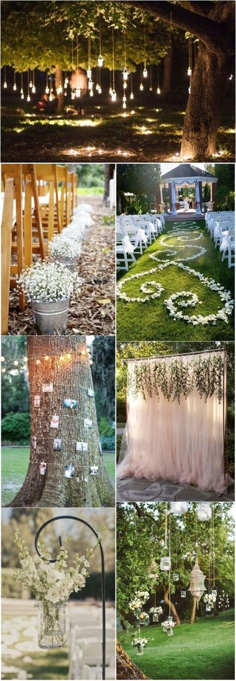 simple outdoor wedding ideas for summer%0A    Sweet Ideas For Intimate Backyard Outdoor Weddings   Wedding altars  Backyard  weddings and Altars