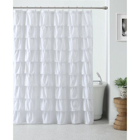 Home Ruffle Shower Curtains White Shower Curtain Cute Shower Curtains