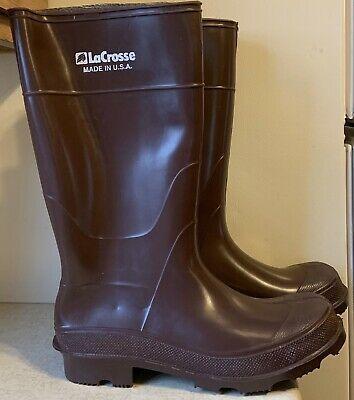 Details About Lacrosse Brown Rubber Rain Farm Mud Boots 14 Men S