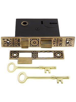 Windsor Pattern Mortise Lock 2 1 4 Backset In Antique By Hand