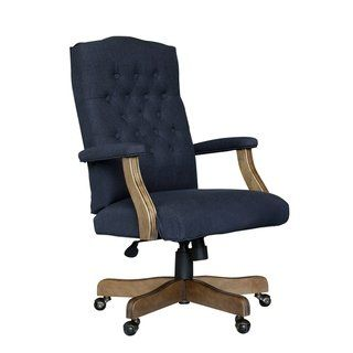 Boss Executive Navy Commercial Grade Linen Chair With Driftwood Finish Frame Navy Blue Boss Office Products With Images Tufted Office Chair Linen Chair Executive Chair