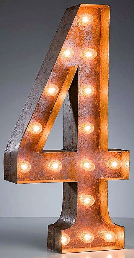 Vintage Marquee Light Numbers by ShryneDesign on Etsy