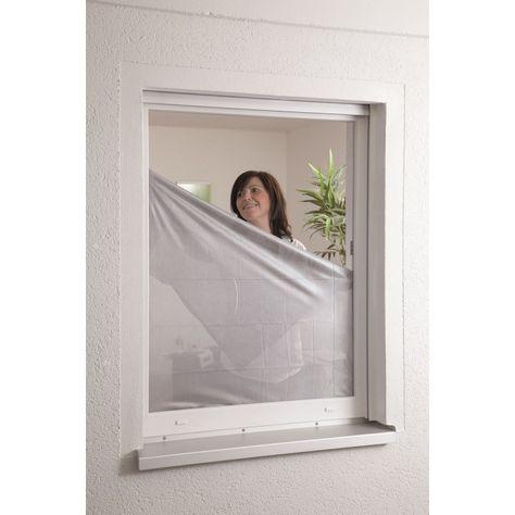 Moustiquaire Et Pare Soleil Fenêtre Fixation Velcro L130 X H 150 Cm
