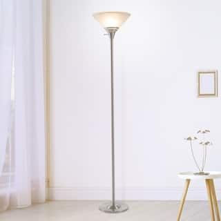 Torchiere Floor Lamp Marbleized Glass Shade Wh Torchiere Floor
