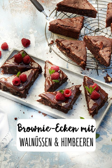 Glutenfreie Brownie Ecken Mit Walnussen Und Himbeeren Rezept