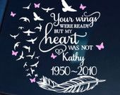 Memorial Car Decal,Memorial Decal,Memorial Car Sticker,Your wings were ready Decal,Remembrance Decal,Butterfly Memorial Decal,Butterfly