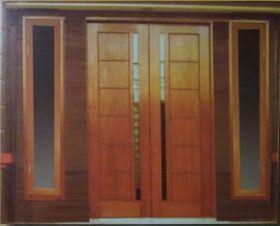 Desain Pintu Minimalis 2 Daun Dekorasi Rumah Pintu Desain Pintu
