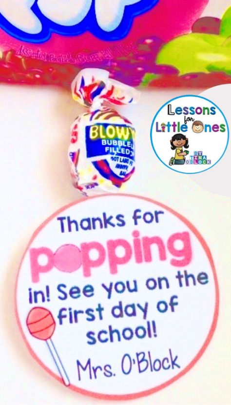 Back to School, Open House, Meet the Teacher Student Gift Ideas & Gift Tags - Lessons for Little Ones by Tina O'Block
