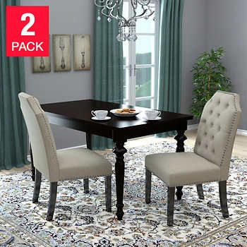 Michelle Dining Chair 2 Pack Tan