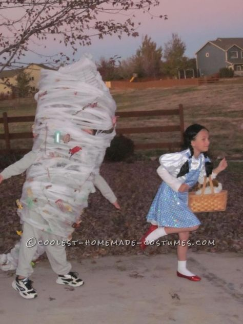 I laughed a little too hard at this. Its a kid dressed up as a tornado chasing a kid dressed up as Dorothy