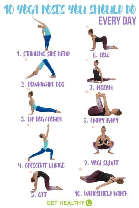 10 Yoga Poses To Add To Your Daily Routine Easy Yoga Workouts Basic Yoga Yoga Training