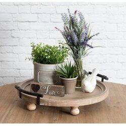 Oxfordshire Round Wooden Footed Coffee Table Tray Coffee Table Decor Tray Rustic Table Decor Round Tray Decor