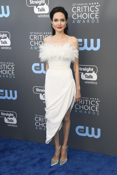 Actor Angelina Jolie attends the 23rd Annual Critics' Choice Awards.