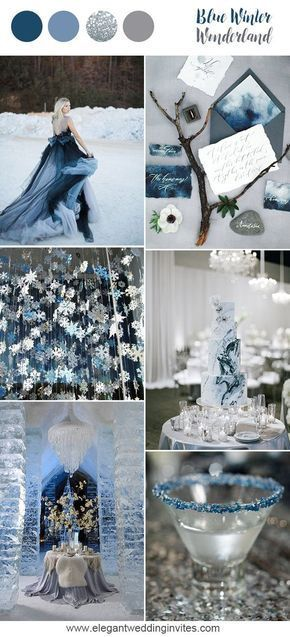 10 Prettiest Blue Wedding Color Combos For 2018 2019 Winter Wedding Receptions Wedding Color Combos Winter Wedding Dress