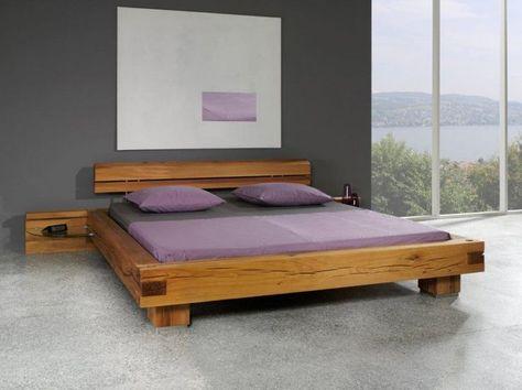 Balkenbett sumpfeiche  Balkenbett Sumpfeiche aus massiven Sumpfeichen Balken gefertigt ...