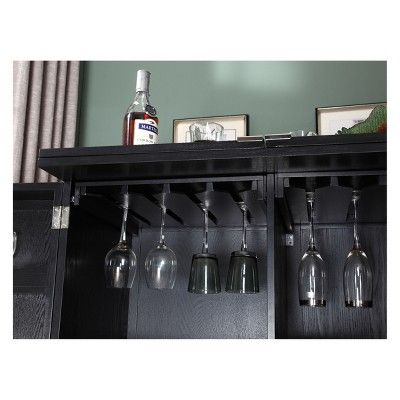 Proman Products California Fold Away Bar Cabinet Black Cabinet Bar Cabinets Online