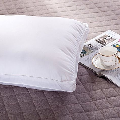 OROSE Silk Filled Pillows With 100% Natural Cotton Cover, Breathable & Fluffy (50%Silk 50%Polyester, Standard)