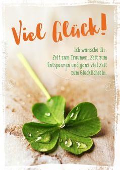 Viel Glück! - Doppelkarte - Grafik Werkstatt Bielefeld