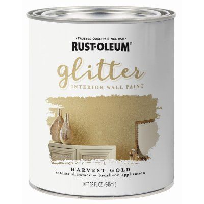 Rust Oleum Glitter Brush On Paint Gold Qt Model 323859 True