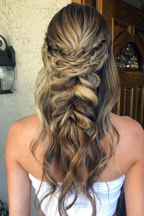 33 Wedding Hairstyles With Hair Down ❤ wedding hairstyles down with braided halo and bech curls nadiaroseg #weddingforward #wedding #bride #weddinghairstyles #weddinghairstylesdown