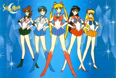 Sailor Moon and her Sailor Scouts!