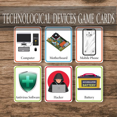 Technological Devices Game Cards