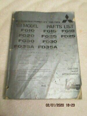 Factory Oem Mitsubishi Forklift Trucks Fg10 Fg15 Fg20 Parts List Manual Catalog Forklift Mitsubishi Trucks