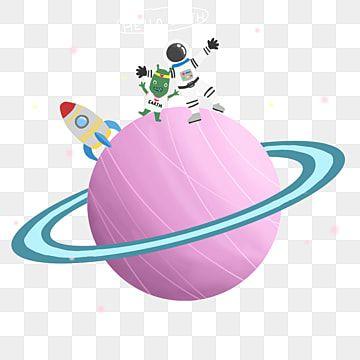 النجوم الأجانب رواد الفضاء الفضاء الخارجي عنصر الأجانب رسمت Png وملف Psd للتحميل مجانا Pink Hand Painted Planets