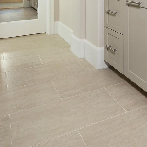 MSI Metropolis Avorio 12 in. x 24 in. Matte Porcelain Floor and Wall Tile sq. / - The Home Depot Wood Look Tile Floor, Wood Tile Floors, Best Flooring For Kitchen, Cream Tile Floor, Tile Effect Laminate Flooring, Porcelain Wood Tile, Porcelain Floor, Ceramic Floor Tiles, Beige Tile Bathroom