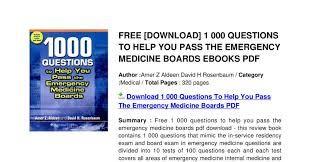Image Result For Internal Medicine Exam Questions Pdf Emergency Medicine Medicine Internal Medicine