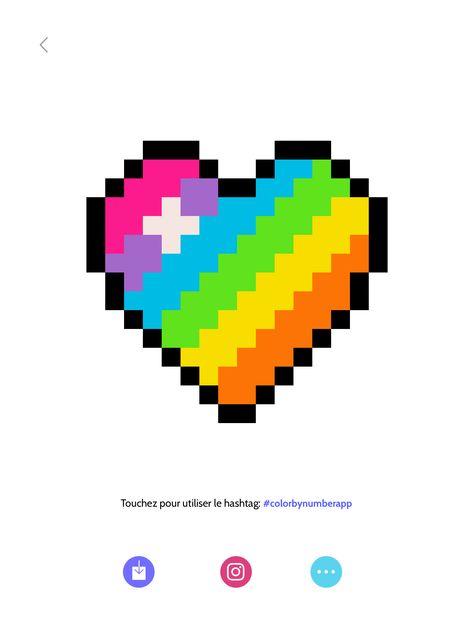 Cœur En Pixel Art Pixel Art Pixel Art Art Et Pixel