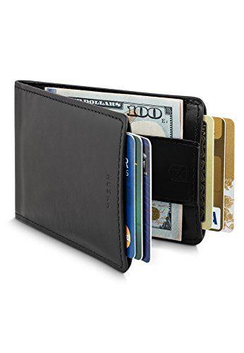 f02b83b973b7 HUSKK Leather Wallet for Men - Credit Card Sleeve Holder With Money ...