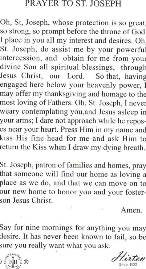 picture regarding Printable Prayer to St. Joseph known as Pinterest