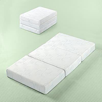 Coprimaterasso Memory Foam 5 Cm.Amazon Com Zinus Gel Memory Foam 5 Inch Tri Fold Comfort Portable Folding Floor Mat Single Kitchen Dining In 2020 Folding Mattress Gel Memory Foam Zinus