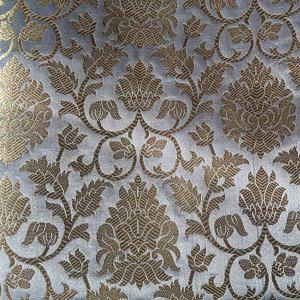 40 Sale Brocade Fabric Indian Silk Brocade Fabric Gray And Etsy Brocade Fabric Silk Brocade Gold Fabric