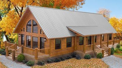 One Of The Most Beautiful Log Cabins With Gorgeous Deck Porch