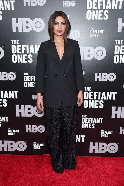 Priyanka Chopra attends 'The Defiant Ones' premiere.