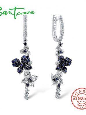 SANTUZZA Silver Earrings For Women Pure 925 Sterling Silver