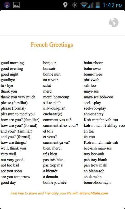 Basic French Greetings With Images French Language Lessons