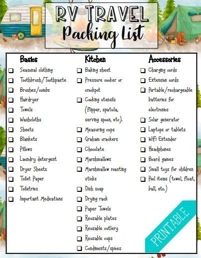 Rv Packing List What To Bring On A Family Rv Trip Travelingmom Rv Packing List Rv Travel Rent Rv