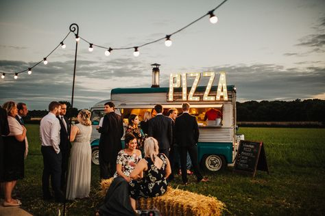 Whimsical Countryside Sperry Tent Wedding Wedding Reception Food, Food Truck, Wedding Planning Tips, Pizza Wedding, Food Truck Wedding, Wedding Reception Food, Wedding Guest Book, Farm Wedding, Wedding Events, Dream Wedding, Wedding Day, Wedding Catering