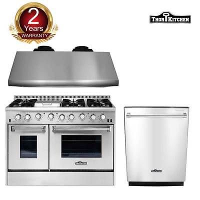 Thor Kitchen 48 Gas Range 48 Under Cabinet Range Hood Dishwasher Cooktop Hot Major Appliances Kitchen Appliances Kitchen