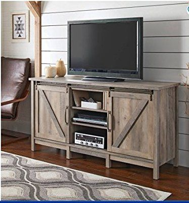 Amazon Com Better Homes And Gardens Modern Farmhouse Tv Stand