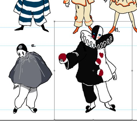 I was trying to resize this guy a little bit and my hand slipped and I ended up with the MEGAPIERROT Trevor Brown, Clown Paintings, Paper Dolls Clothing, Dark Circus, Cute Clown, Mark Ryden, Audrey Kawasaki, Goth Art, Character Design Inspiration