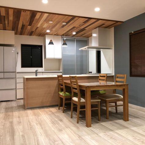 株式会社 武市ウインド名古屋 雅の家さんはinstagramを利用しています 名古屋の住宅会社 雅の家の施工事例をご紹介 今回は 北欧テイストのldk改装 ホワイトオークの床材とブルーグレーのアクセントクロス レッドシダーの天井材 ダウンライトは少し明るめにして