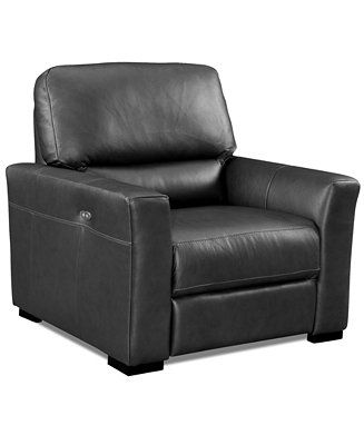 Super Nicolo Leather Power Recliner Chair Furniture Macys The Lamtechconsult Wood Chair Design Ideas Lamtechconsultcom
