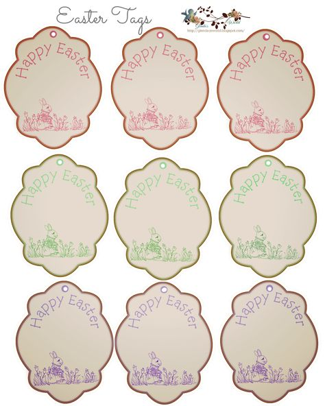 Free printable easter gift tags free printable easter and pastels negle Image collections