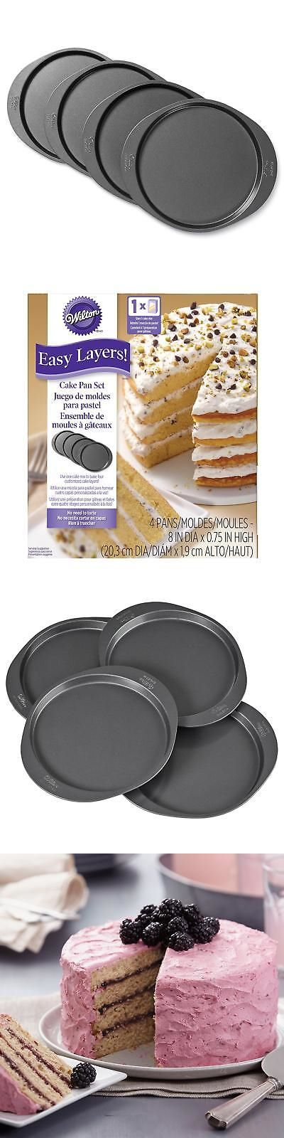 Wilton Easy Layers Round Layer Cake Pans Set, 4-Piece